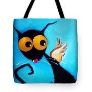Stressie Cat Angel Tote Bag