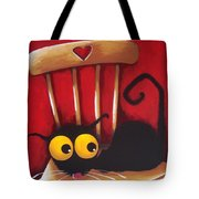 Stressie Cat Chair Tote Bag