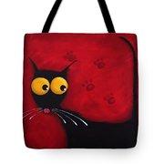 Stressie Cat Tote Bag