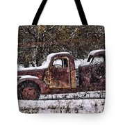 Stretch Limo In The Blizzard Tote Bag