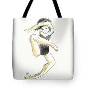 Stretching Dancer Tote Bag