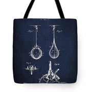 Striking Bag Patent Drawing From1891 Tote Bag by Aged Pixel