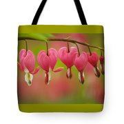 String Of Hearts Tote Bag
