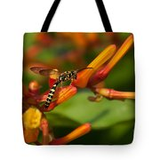 Striped Bee Tote Bag
