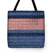 Striped Crochet Cloth Tote Bag