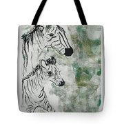 Striped Duet Tote Bag