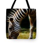 Striped Fractal Tote Bag