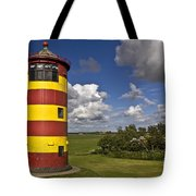 Striped Lighthouse Tote Bag