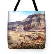 Striped Mountains Tote Bag