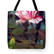 Striped Rose And Yellow 2 Tote Bag