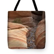 Striped Sandstone Tote Bag