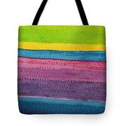 Stripes Original Painting Tote Bag