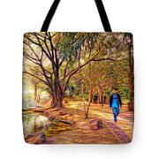 Stroll In The Park. Tote Bag