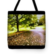 Stroll On An Autumn Lane Tote Bag