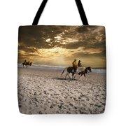 Strolling Horses Tote Bag