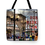 Strolling Towards The Market - Seattle Washington Tote Bag