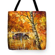 Strong Birch - Palette Knife Oil Painting On Canvas By Leonid Afremov Tote Bag