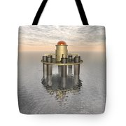 Structure At Sea Tote Bag
