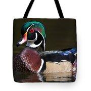 Strutting His Stuff - Wood Duck Tote Bag