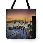 Stuart Marina At Sunset Tote Bag