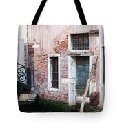Stucco And Brick Canalside Building Venice Italy Tote Bag