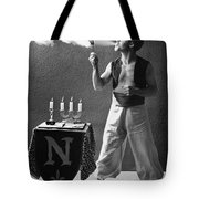 Student Works As Fire-eater Tote Bag