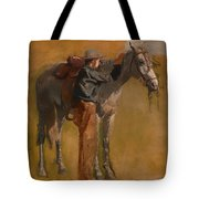 Study For Cowboys In The Badlands Tote Bag