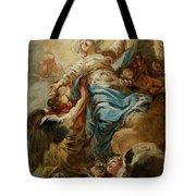 Study For The Assumption Of The Virgin Tote Bag by Jean Baptiste Deshays de Colleville