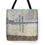 Study For The Channel At Gravelines Evening Tote Bag