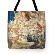 Study For The Coming Of The Americans Tote Bag