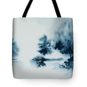 Study In Indigo Tote Bag