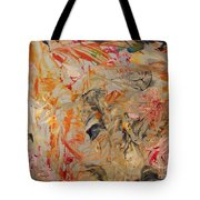 Study In Orange Red And Grey Tote Bag