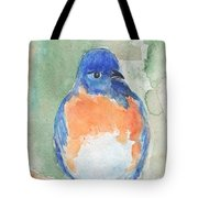 Study Of A Bluebird Tote Bag
