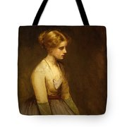 Study Of A Fair Haired Beauty  Tote Bag by Jean Jacques Henner