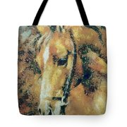 Study Of A Horse's Head Tote Bag
