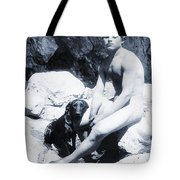 Study Of A Nude Boy With Dog Tote Bag by Wilhelm von Gloeden
