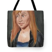Study Of A Young Woman In A Black Sweater Tote Bag