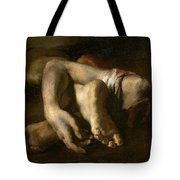Study Of Feet And Hands, C.1818-19 Oil On Canvas Tote Bag