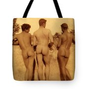 Study Of Three Male Nudes Tote Bag
