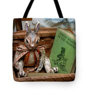 Stuffed Rabbit And Uncle Wiggly Book Tote Bag