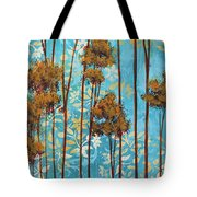 Stunning Abstract Landscape Elegant Trees Floating Dreams II By Megan Duncanson Tote Bag