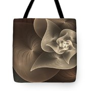 Stylized Philodendron Sepia Tote Bag