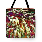Stylized Spirea - Flowering Plant - Gardener Tote Bag