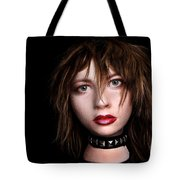 Styrofoam Wig Head With Face Tote Bag