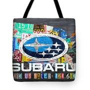 Subaru License Plate Map Sales Celebration Limited Edition 2013 Art Tote Bag