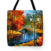 Sublime Park - Palette Knife Oil Painting On Canvas By Leonid Afremov Tote Bag