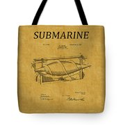 Submarine Patent 3 Tote Bag