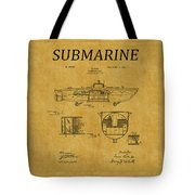 Submarine Patent 5 Tote Bag
