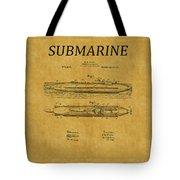 Submarine Patent 7 Tote Bag