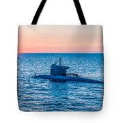 Submarine Sunset Tote Bag